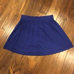 Loft stretchy flowy skirt in cobalt blue/purple